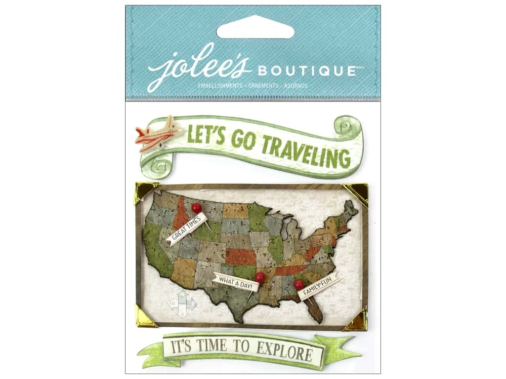 Jolee's Boutique Stickers USA Map