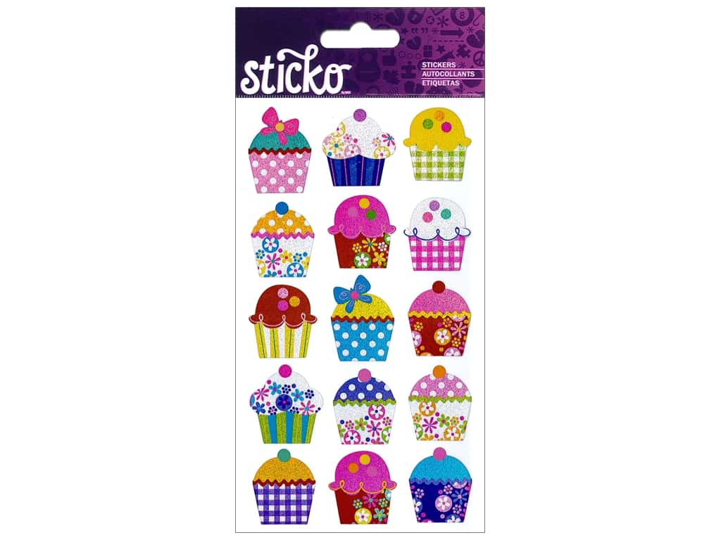 EK Sticko Stickers Electric Cupcakes