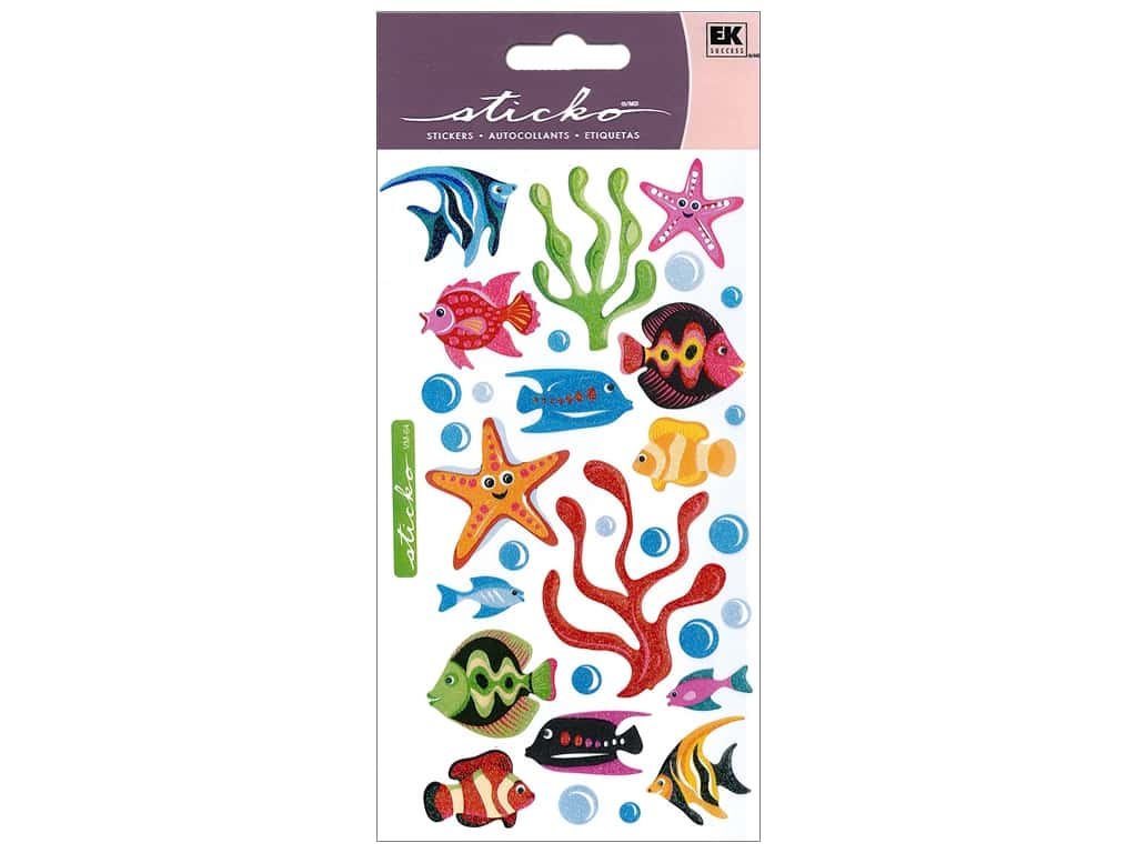EK Sticko Stickers Vellum Tropical Fish