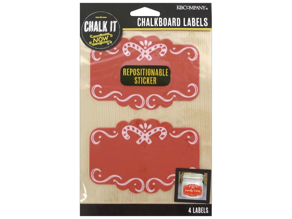 K&Company Chalk It Now Label Scroll Frame Red