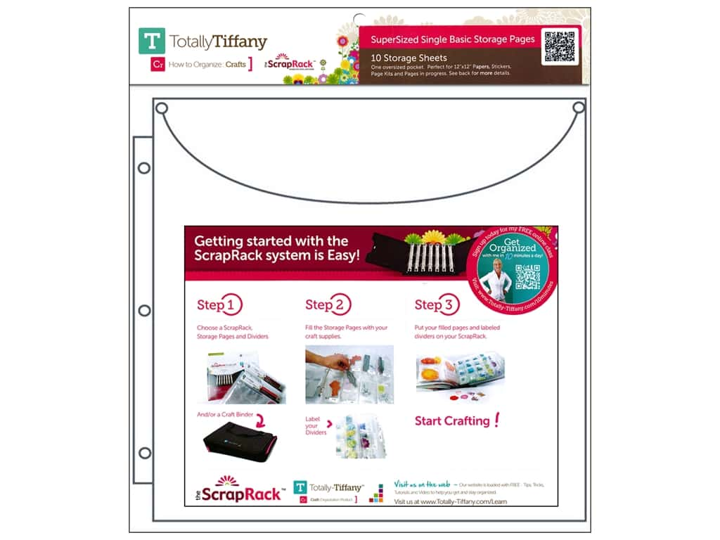 Totally Tiffany ScrapRack Basic Storage Pages Super Size Single 10 pc