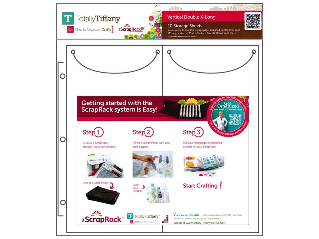 Totally Tiffany ScrapRack Basic Storage Pages Vertical Double X-Long 10 pc