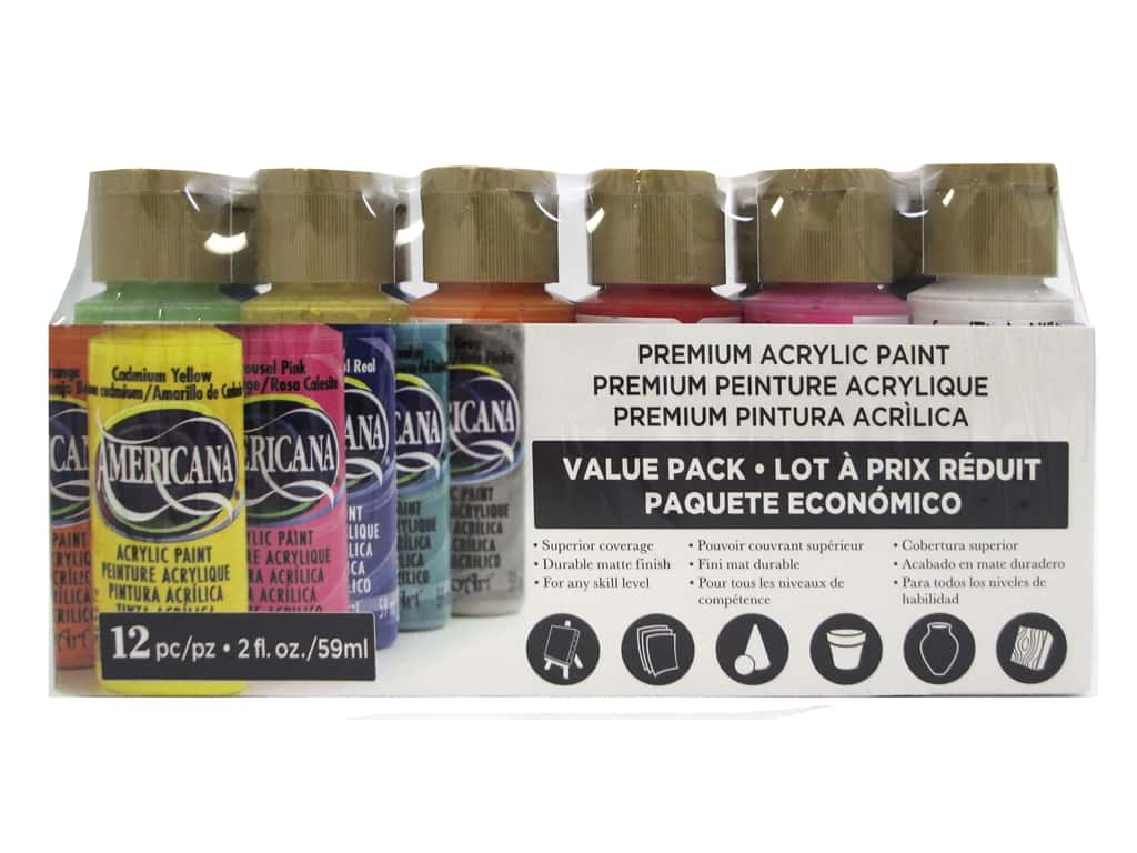 DecoArt Americana Acrylic Paint 12 pc. Value Pack