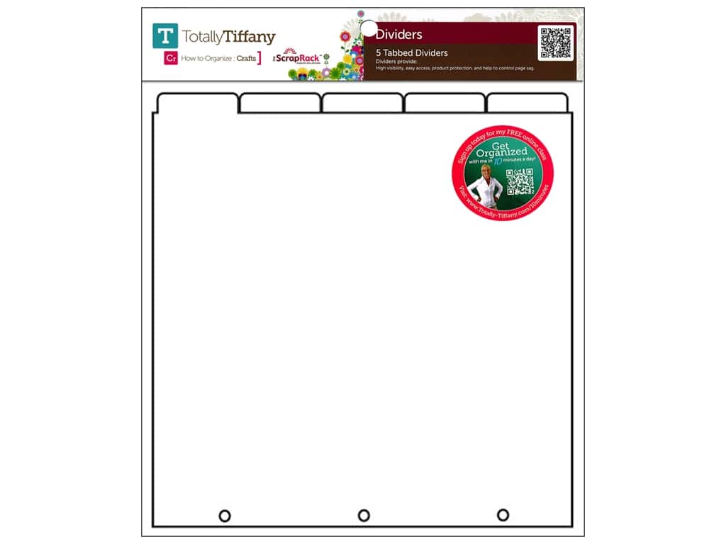 Totally Tiffany ScrapRack Tabbed Divider 5 pc