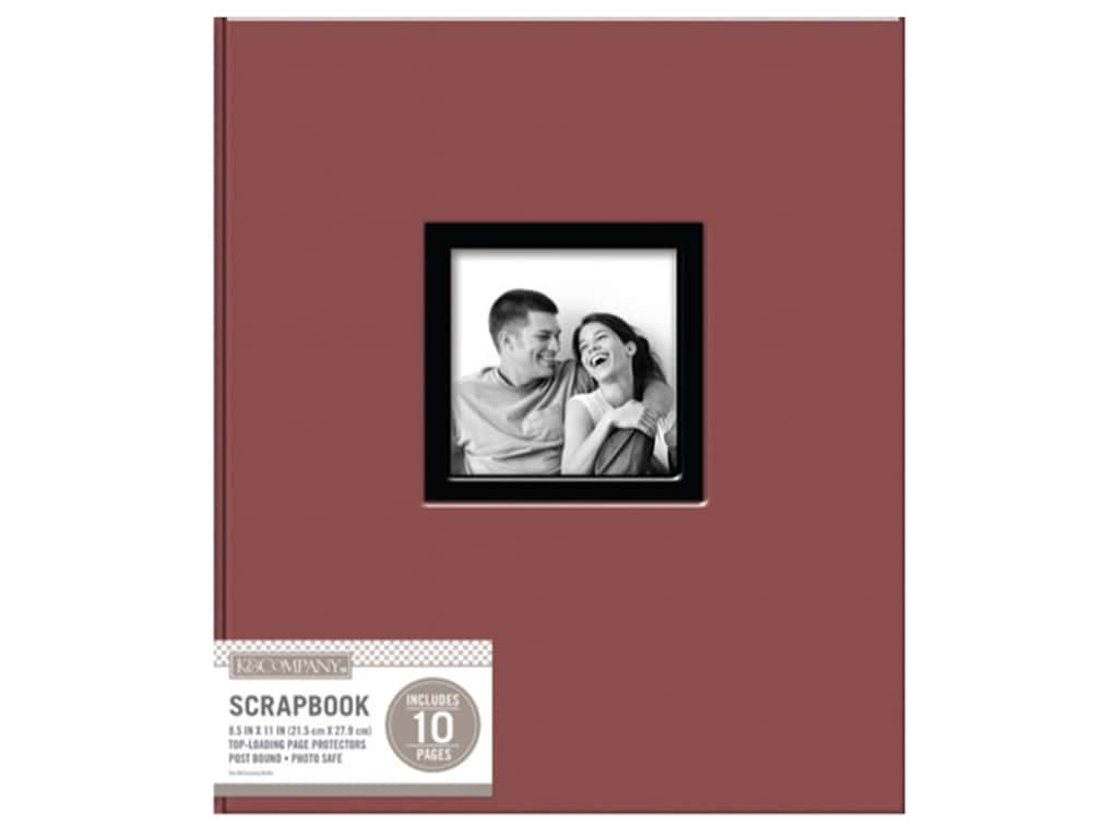 K & Company 8 1/2 x 11 in. Scrapbook Window Album Fabric Burgundy
