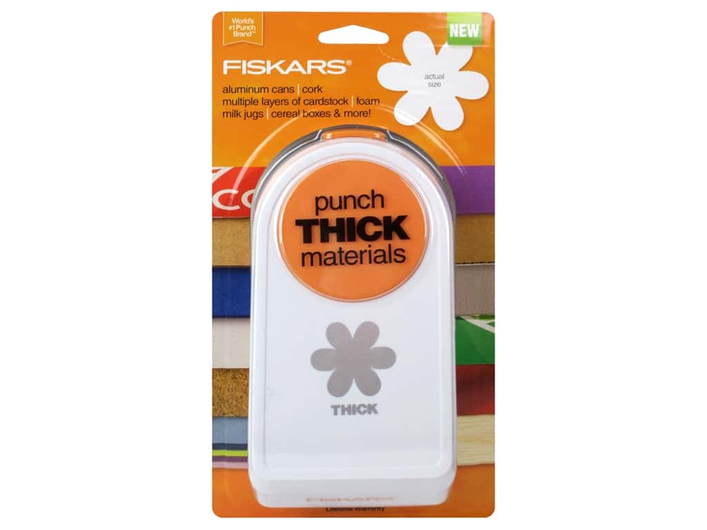 Fiskars Thick Materials Punch 1 in. Floral Frenzy