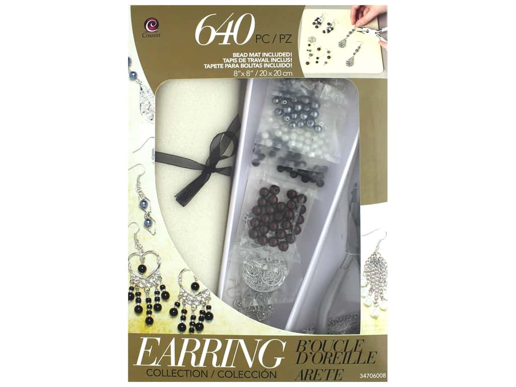 Cousin Class In A Box Kit - Silver & Gunmetal Earring Collection