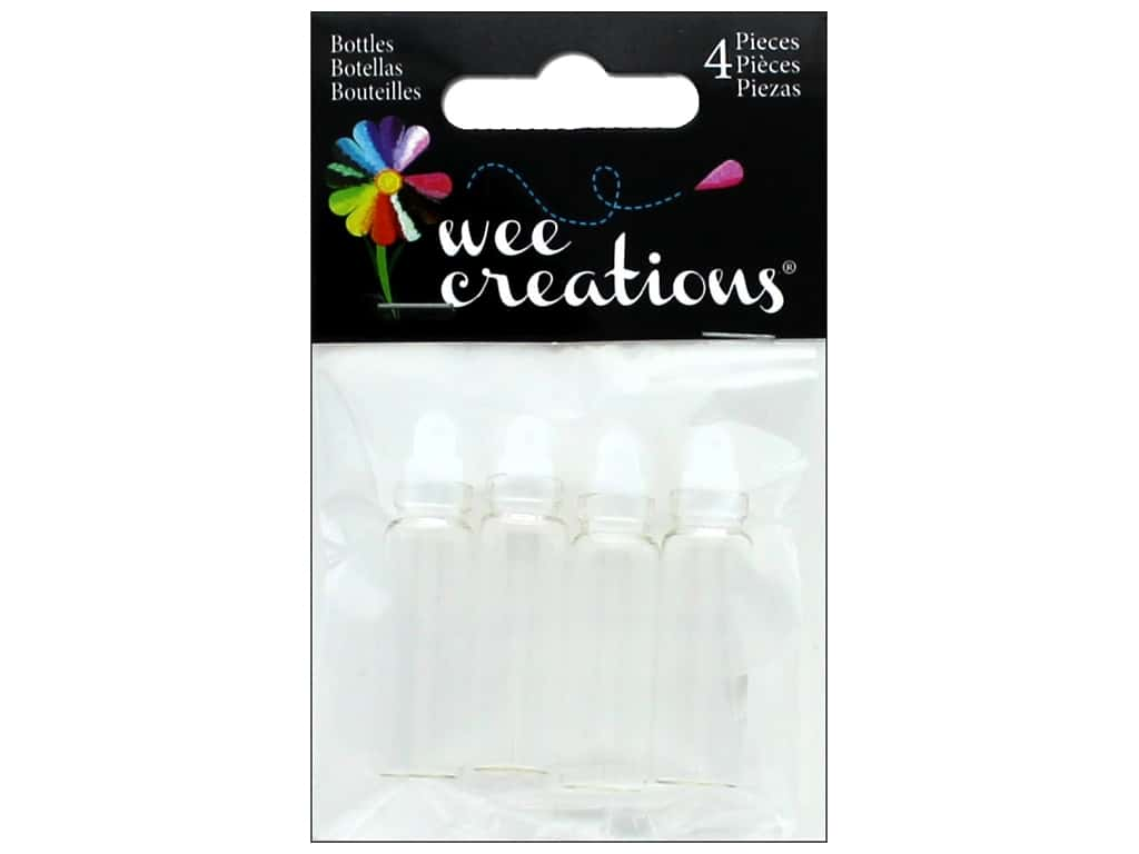 "Midwest Design Embellishment Wee Creations Wishing Bottle 1.5"" 4pc"
