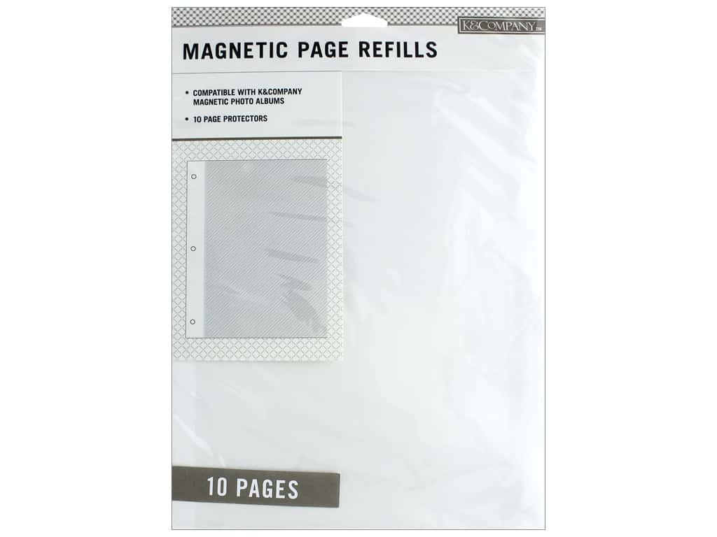 K & Company 8 1/2 x 11 in. Magnetic Page Refills 10 pc.
