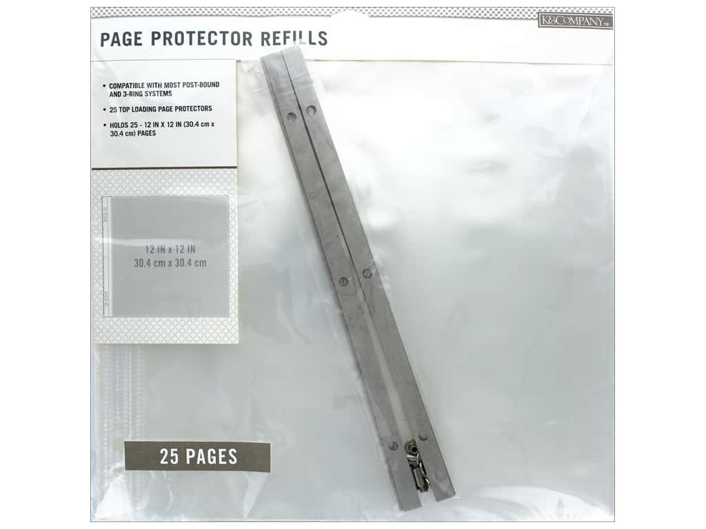 K & Company 12 x 12 in. Page Protector Refills 25 pc.