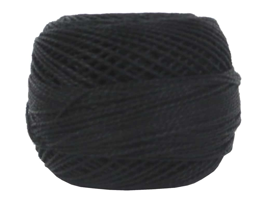 DMC Pearl Cotton Ball Size 8 #0310 Black (10 balls)