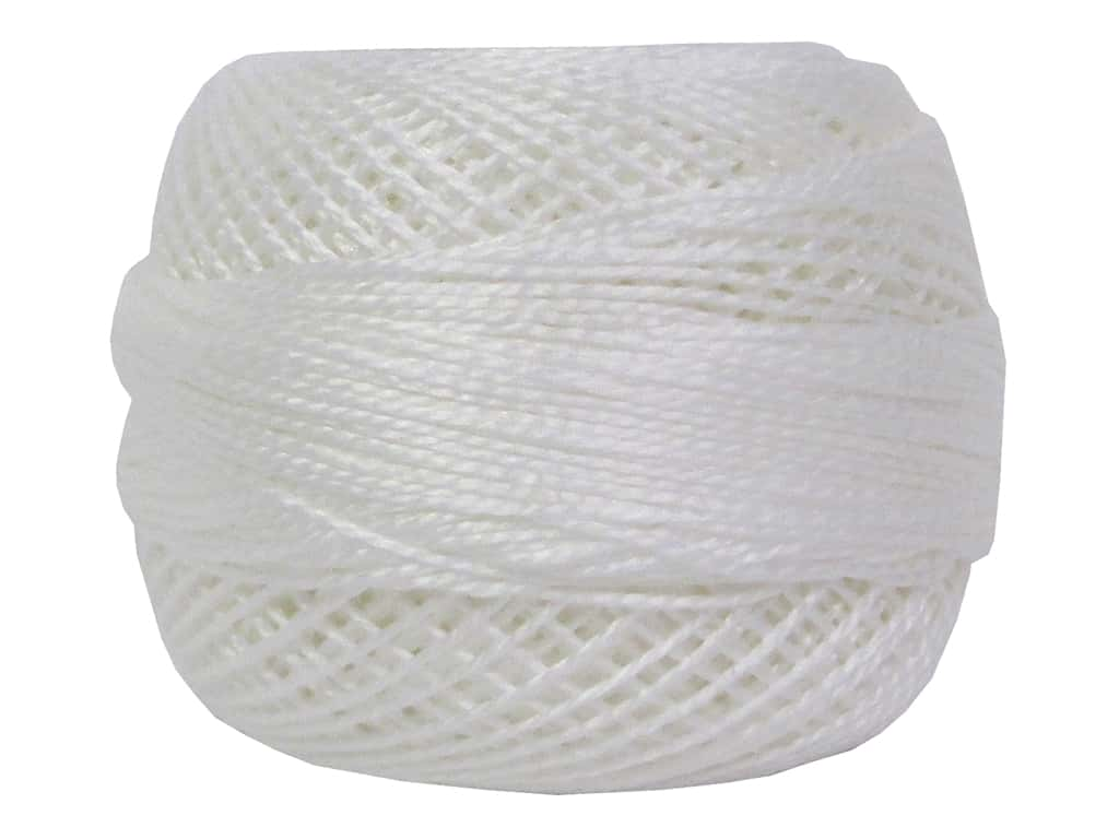 DMC Pearl Cotton Ball Size 8 #0001 White (10 balls)