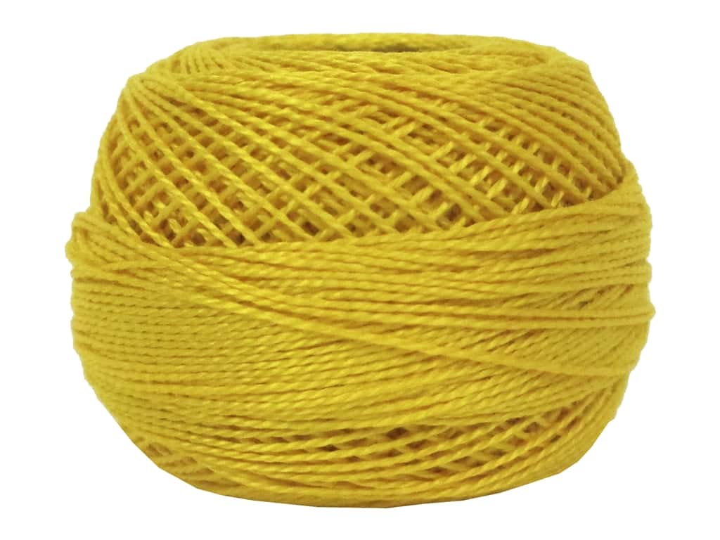 DMC Pearl Cotton Ball Size 8 #444 Dark Lemon (10 balls)