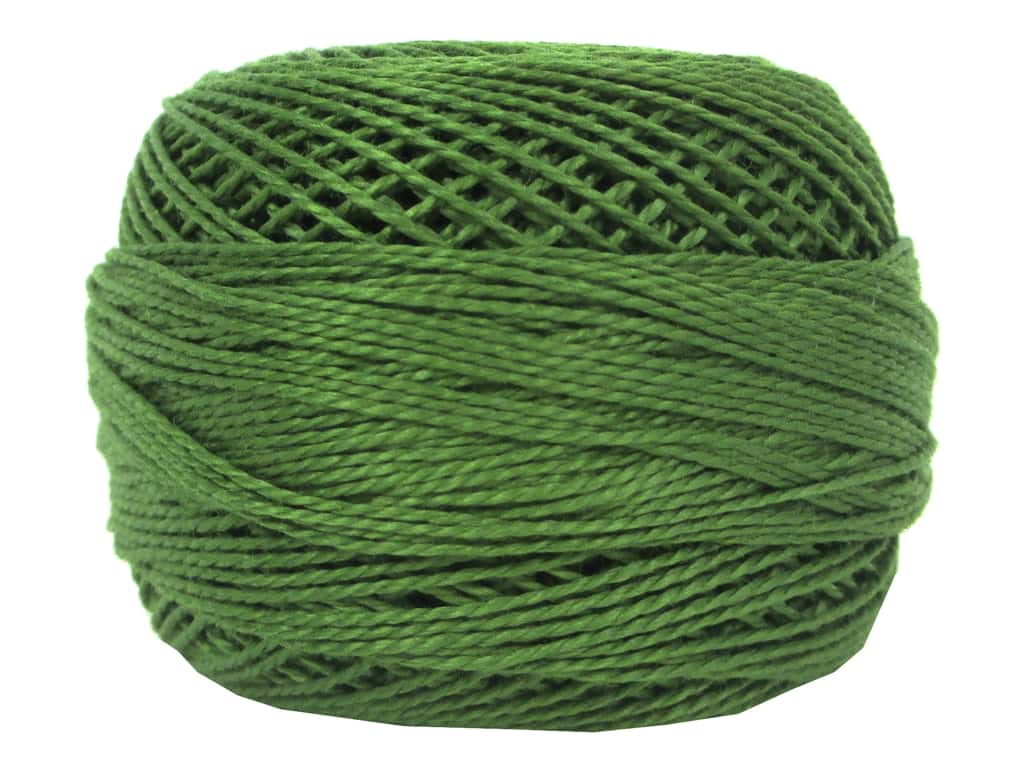 DMC Pearl Cotton Ball Size 8 #904 Very Dark Parrot Green (10 balls)