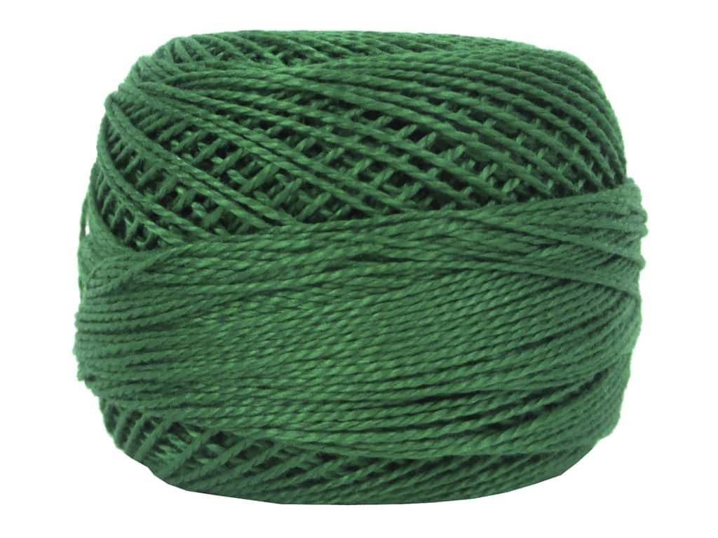 DMC Pearl Cotton Ball Size 8 #0909 Very Dark Emerald Green (10 balls)