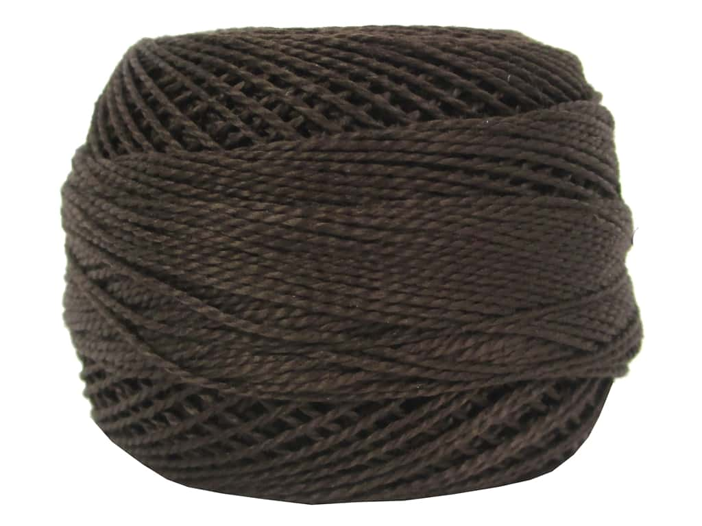 DMC Pearl Cotton Ball Size 8 #0938 Ultra Dark Coffee Brown (10 balls)