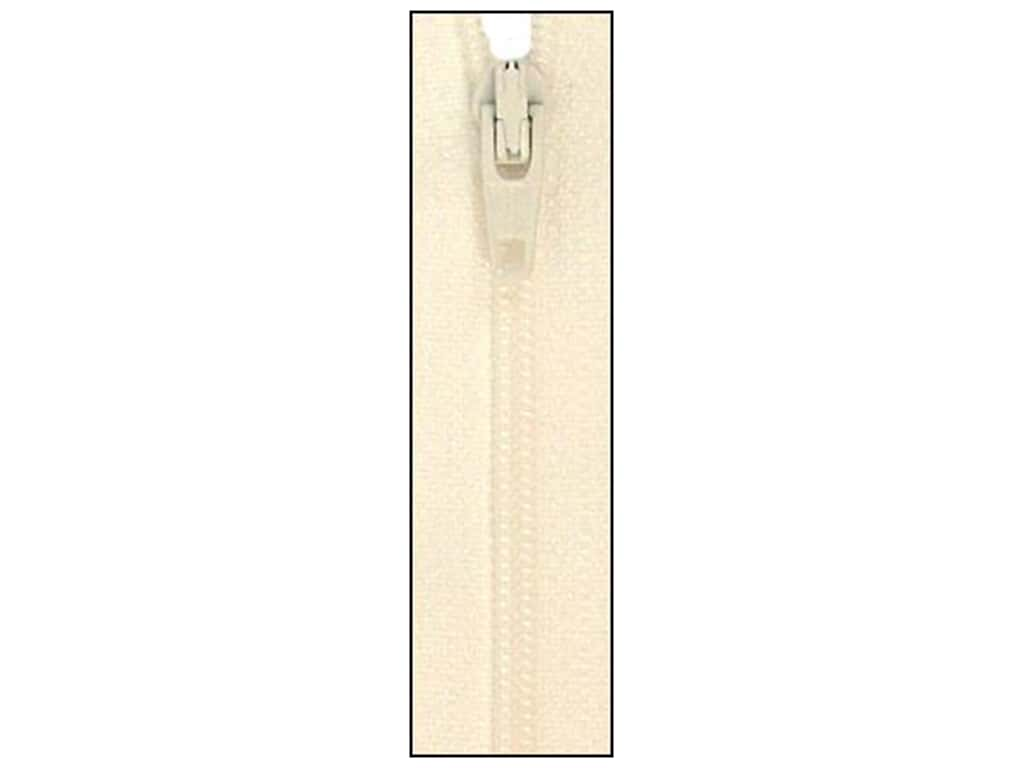 Atkinson Designs Zipper by YKK 22 in. Marshmallow (6 pieces)