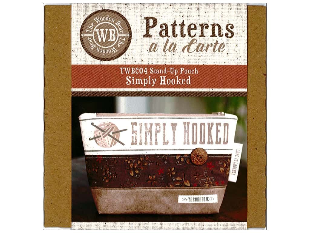 The Wooden Bear Simply Hooked Stand Up Pouch Pattern