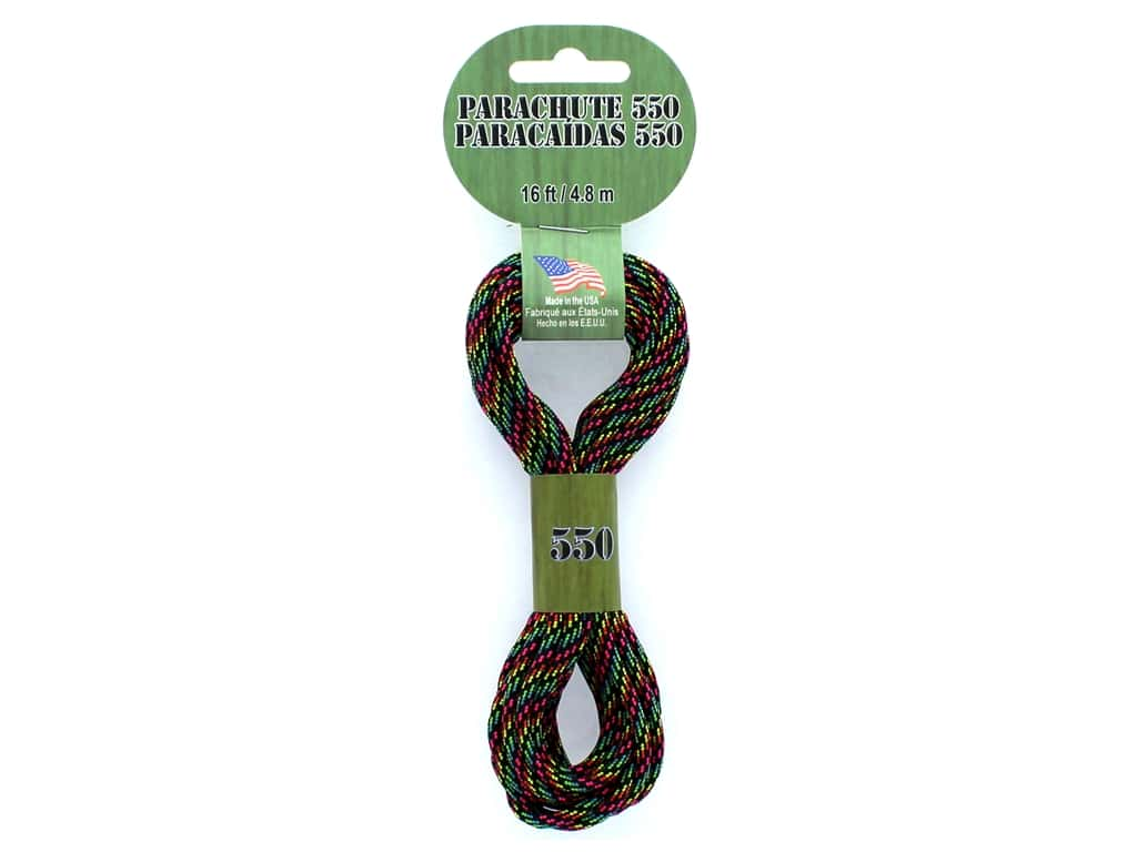 Pepperell Parachute Cord 550 Nylon 16ft Disco Nights