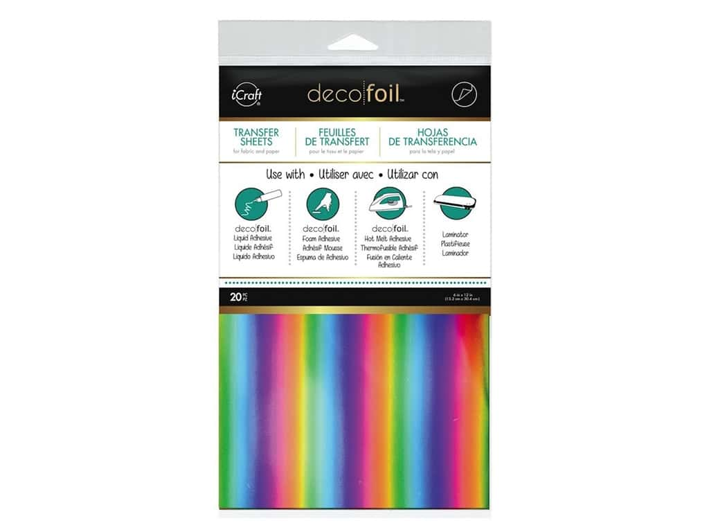 iCraft Deco Foil Sheet 6 x 12 in. 20 pc. Rainbow