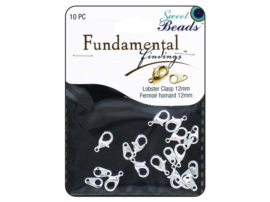 Sweet Beads Fundamental Finding Lobster Clasps 12 mm 10 pc. Silver