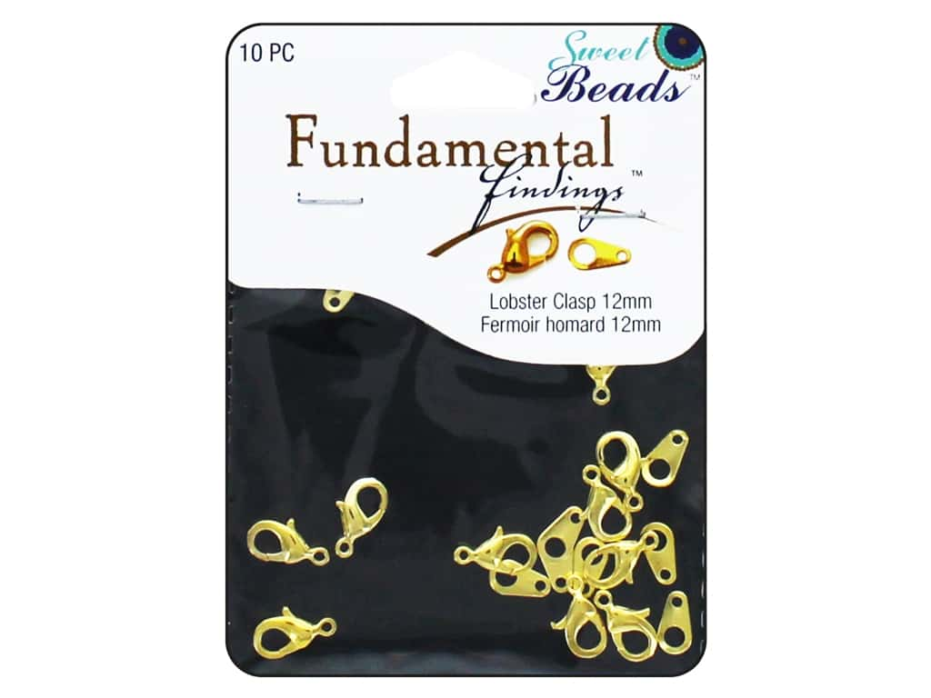 Sweet Beads Fundamental Finding Lobster Clasps 12 mm 10 pc. Gold