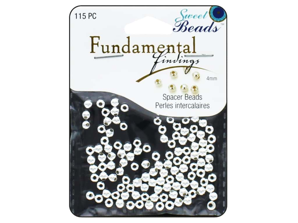 Sweet Beads Fundamental Finding Metal Bead 4 mm Round 115 pc. Silver