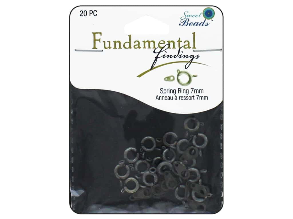 Sweet Beads Fundamental Finding Spring Ring Clasp 5/16 in. Antique Silver 20 pc.