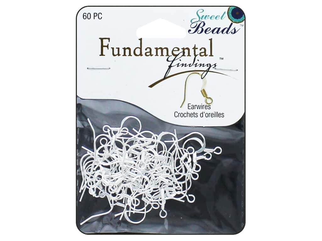 Sweet Beads Fundamental Finding Earwire with Coil 60 pc. Silver