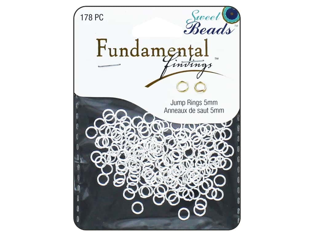Sweet Beads Fundamental Finding Jump Rings 5 mm Silver 178 pc.