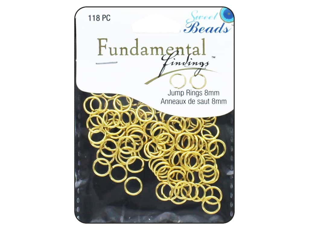 Sweet Beads Fundamental Finding Jump Rings 8 mm Gold 118 pc.