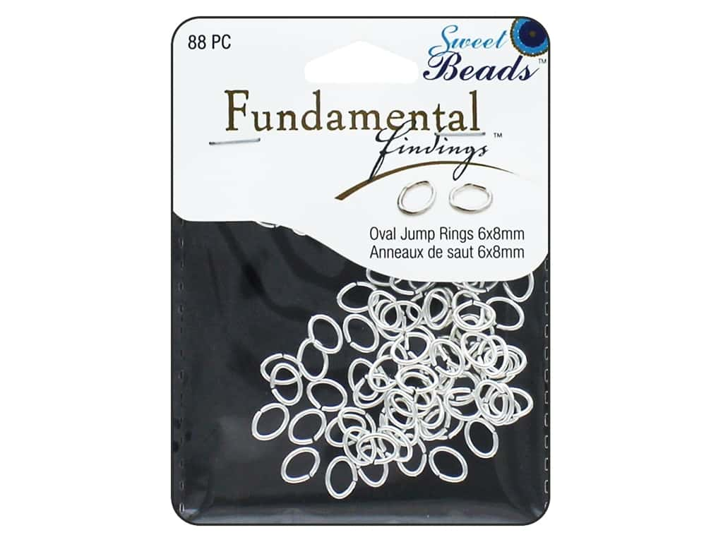 Sweet Beads Fundamental Finding Oval Jump Rings 8 x 6 mm Silver 88 pc.