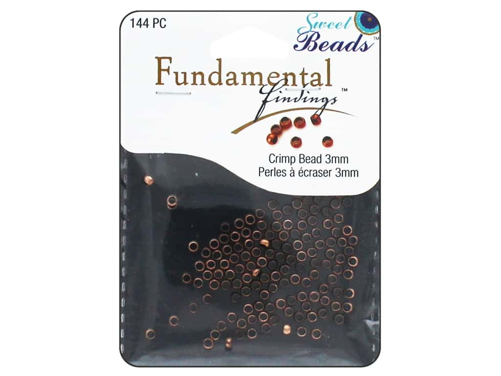 Sweet Beads Fundamental Finding Crimp Beads 3 mm 144 pc. Antique Copper