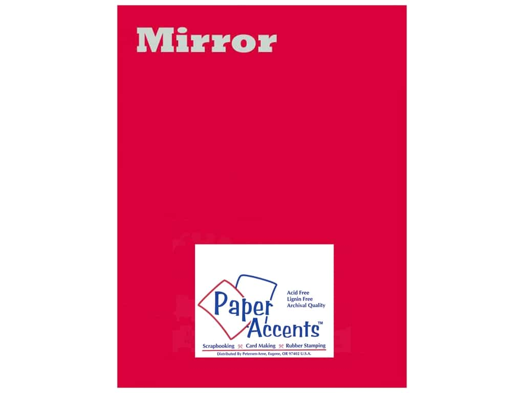Cardstock 8 1/2 x 11 in. Mirror Red by Paper Accents (25 sheets)