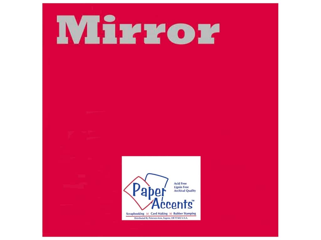 Paper Accents Cardstock 12 x 12 in. Mirror Red 25 pc.