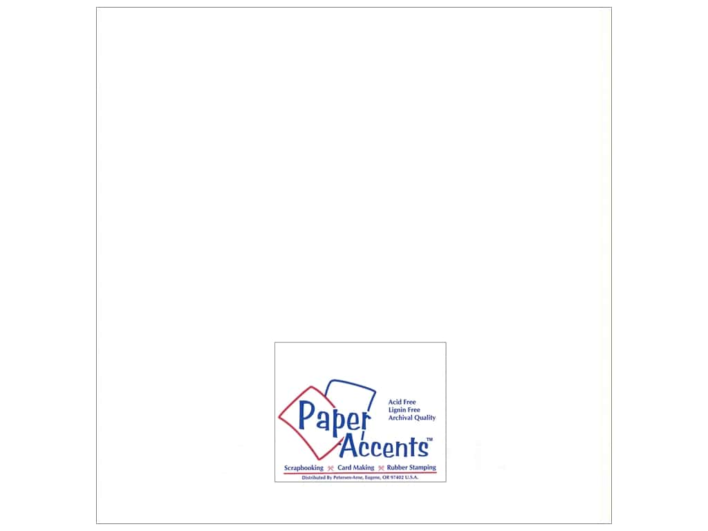 Paper Accents Pearlized Paper 12 x 12 in. #894 White 25 pc.