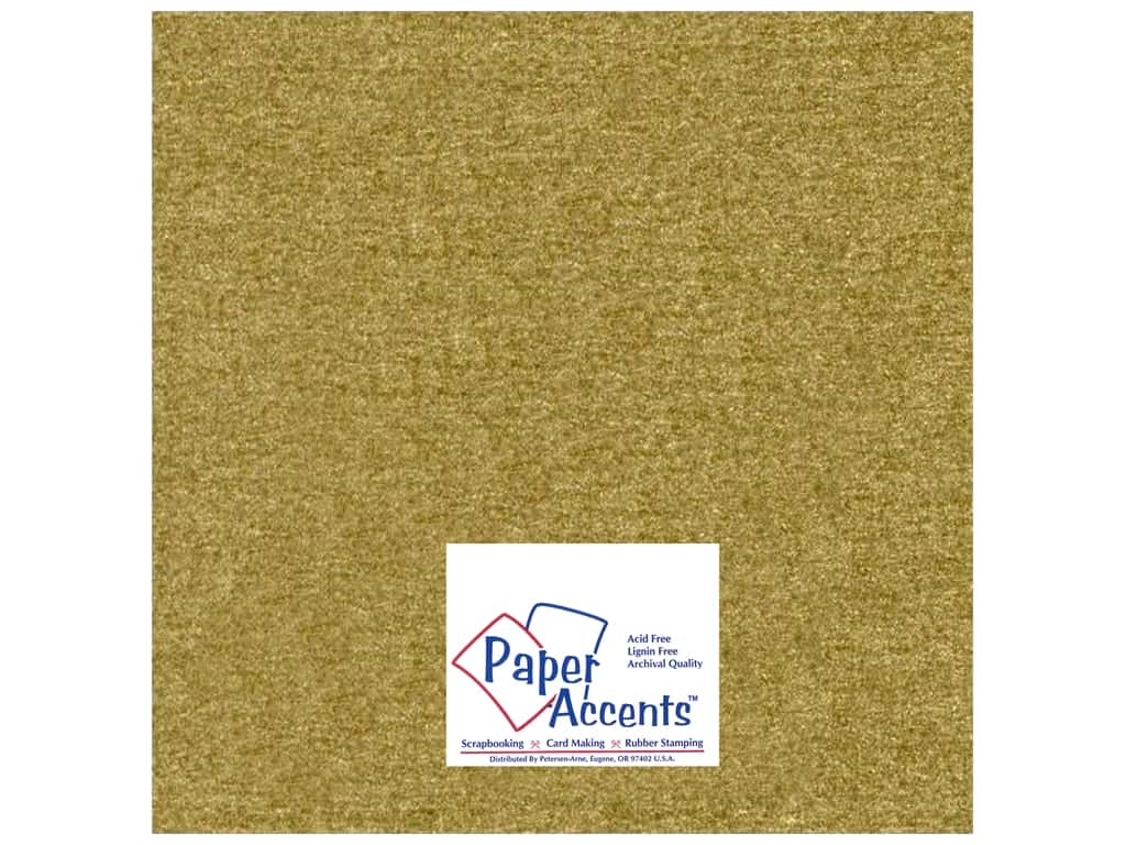 Paper Accents Pearlized Paper 12 x 12 in. #881 Gold Leaf 25 pc.