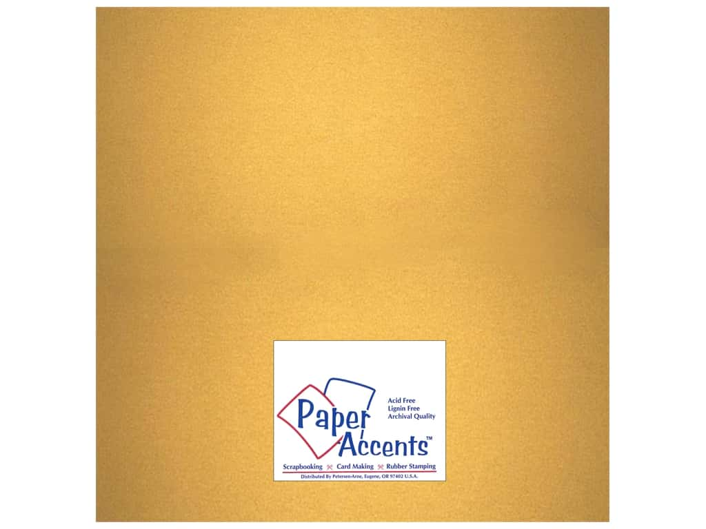 Paper Accents Cardstock 12 x 12 in. #877C Pearlized Gold 25 pc.