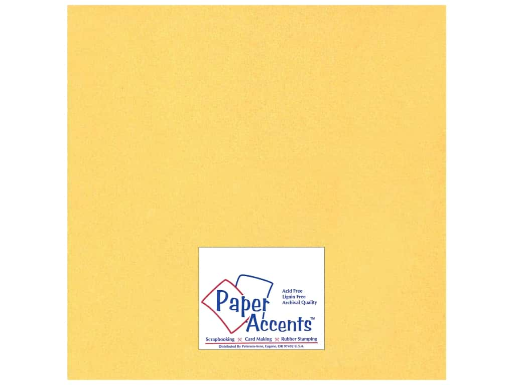 Paper Accents Cardstock 12 x 12 in. #885C Pearlized 22 kt Gold 25 pc.