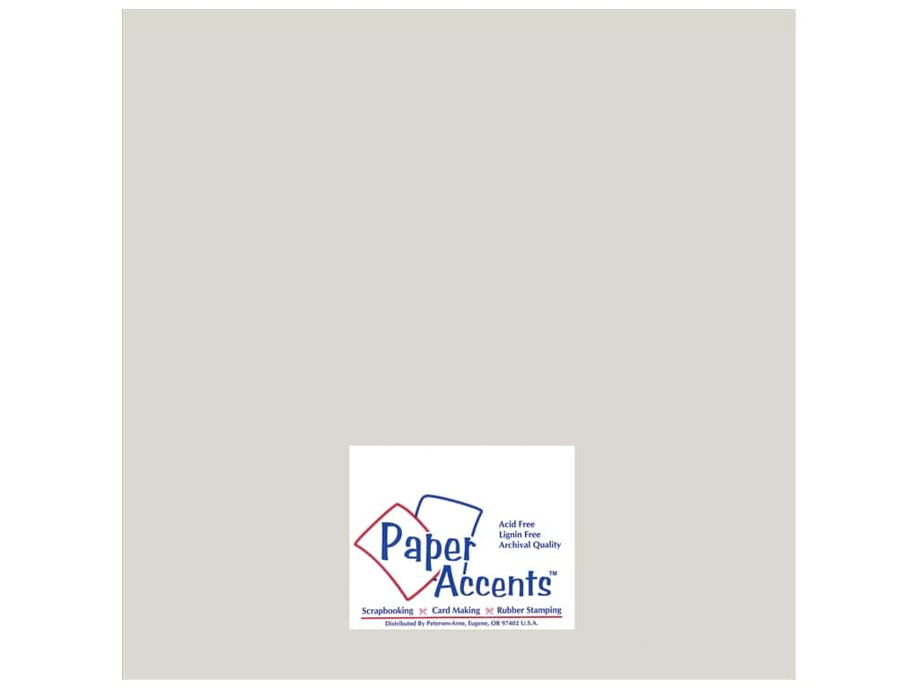 Paper Accents Cardstock 12 x 12 in. #895C Pearlized Silver 25 pc.