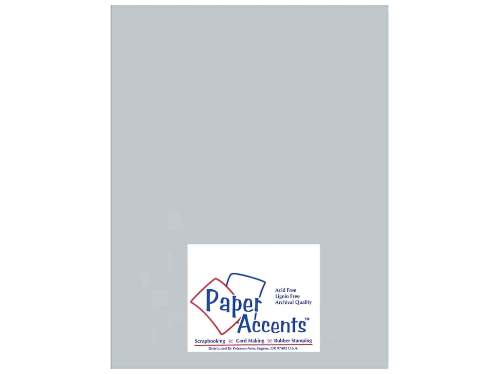 Paper Accents Cardstock 8 1/2 x 11 in. #897C Pearlized Slate 25 pc.