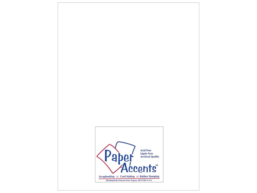 Paper Accents Chipboard 8 1/2 x 11 in. 46 pt. Extra Heavy White 25 pc.