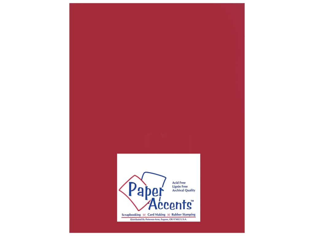Paper Accents Pearlized Paper 8 1/2 x 11 in. #868 Garnet 25 pc.