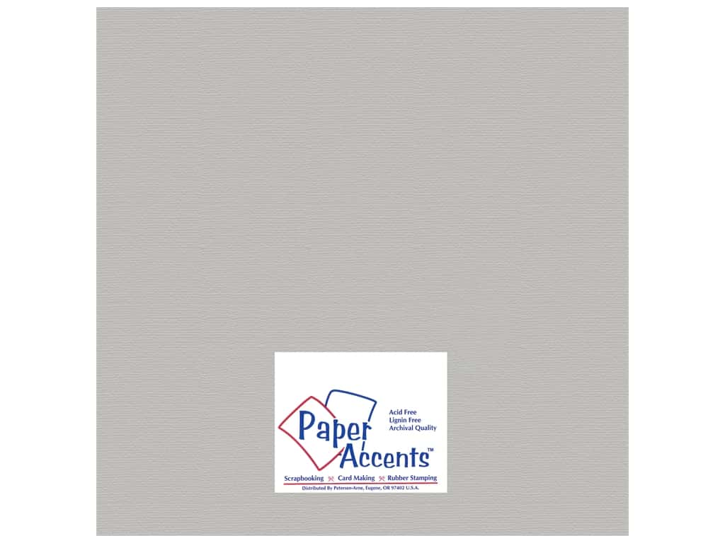 Paper Accents Cardstock 12 x 12 in. #824 Brushed Silver 5 pc.
