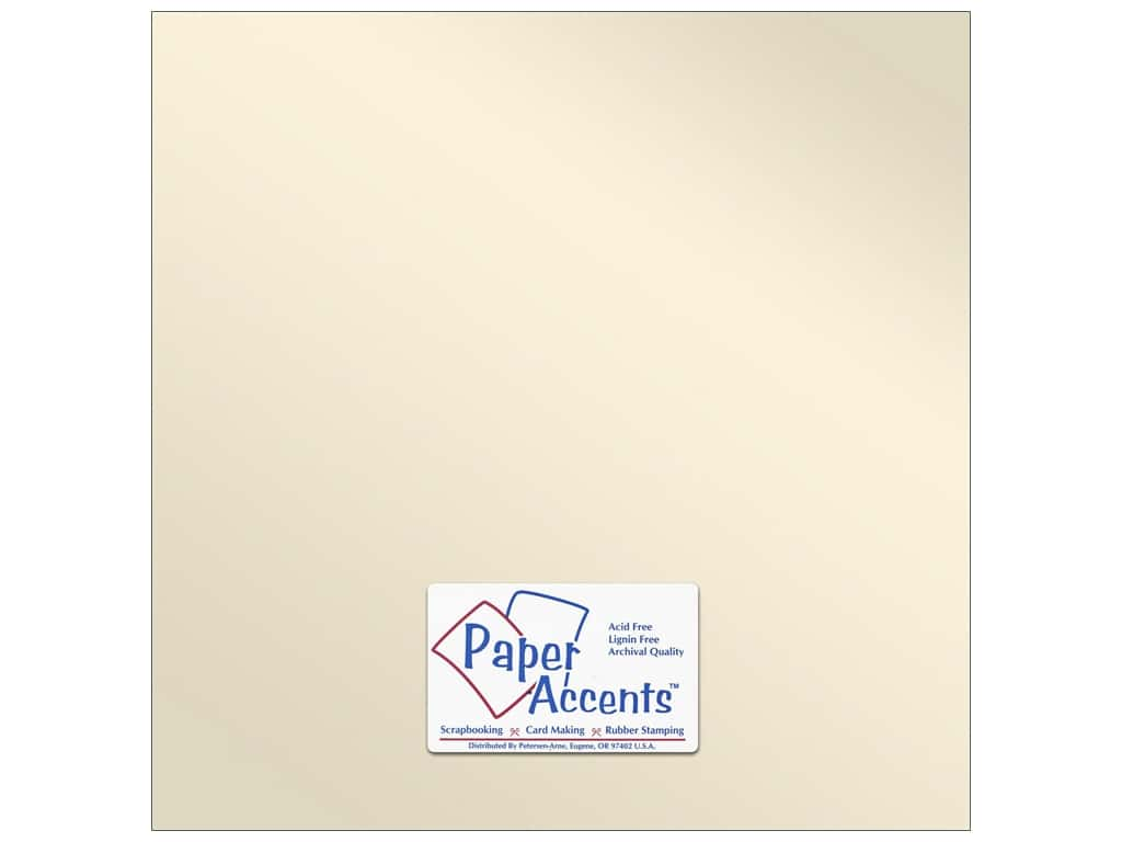 Paper Accents Pearlized Paper 12 x 12 in. #8821 Champagne 5 pc.