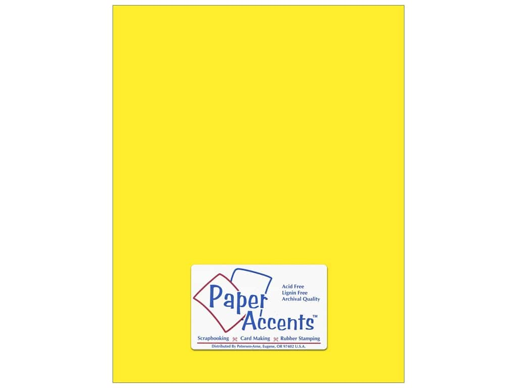 Paper Accents Cardstock 8 1/2 x 11 in. #8843 Fluorescent Neon Yellow 5 pc.