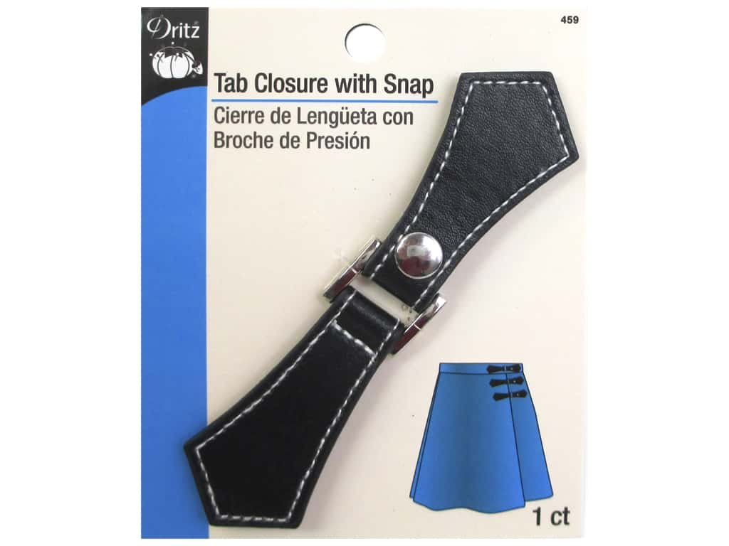 Dritz Buckle Tab Closure With Snap Black/Silver