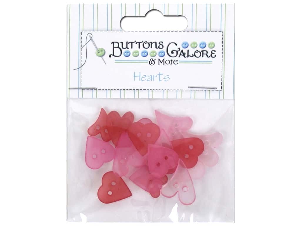 Buttons Galore Theme Button Clear Hearts