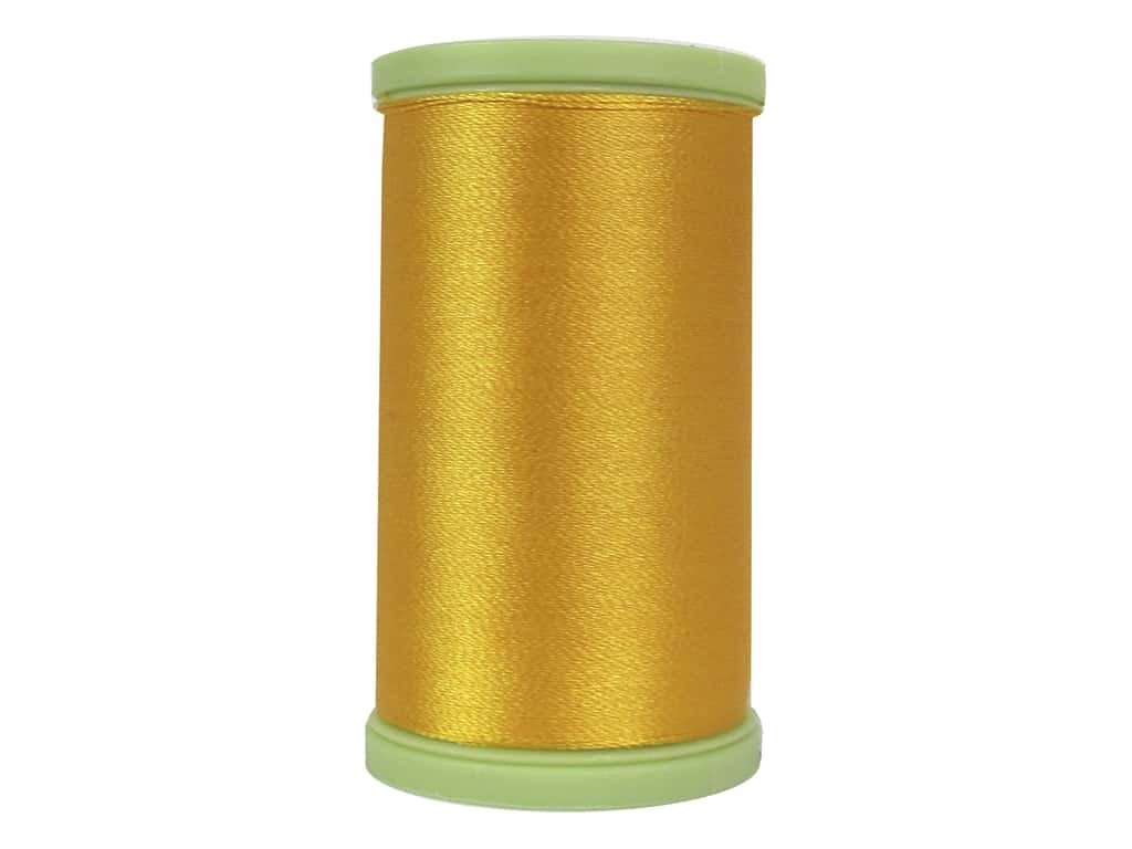 Coats Trilobal Polyester Embroidery Thread  600 yd. #7360 Spark Gold