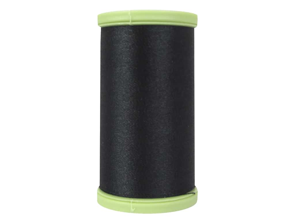 Coats Trilobal Polyester Embroidery Thread  600 yd. #900 Black